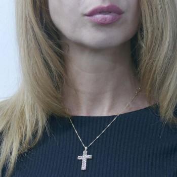 Pendant - Catholic cross, yellow gold