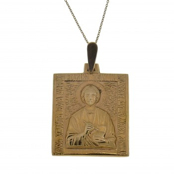 Золотой кулон - Икона, красное золото 14 карат