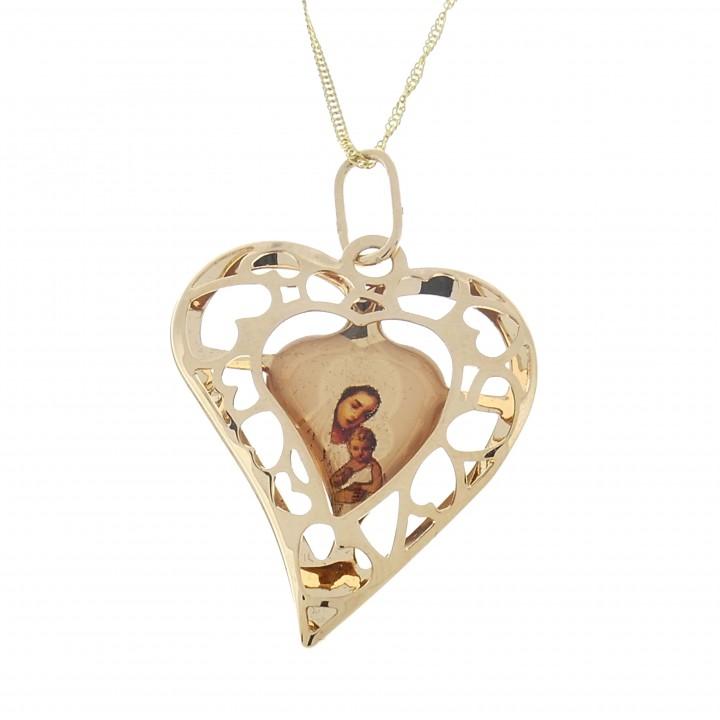 Христианский кулон Богородица