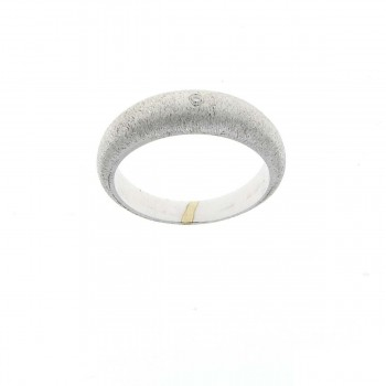 Кольцо для женщины белое золото 14 карат с бриллиантом