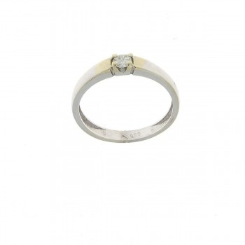 Engagement ring, white gold with diamond