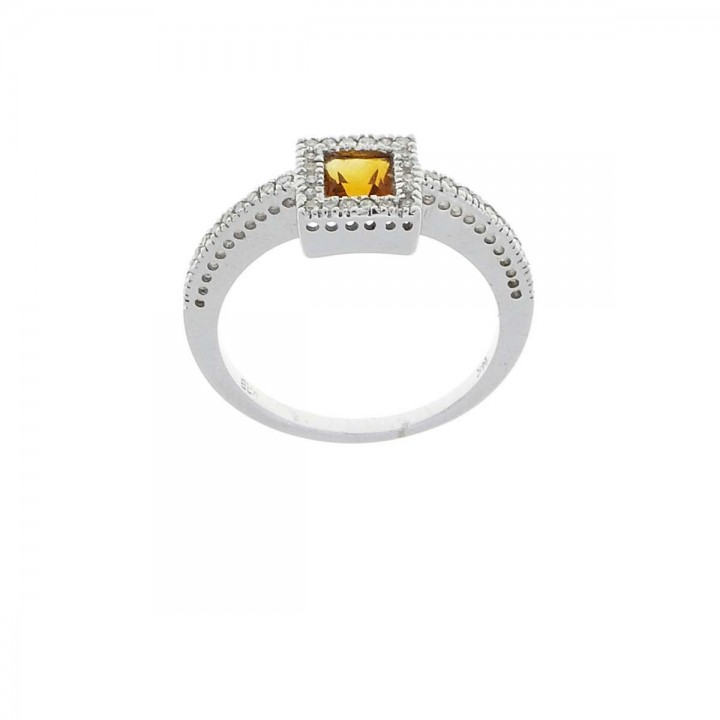 Rings with diamonds and citrine