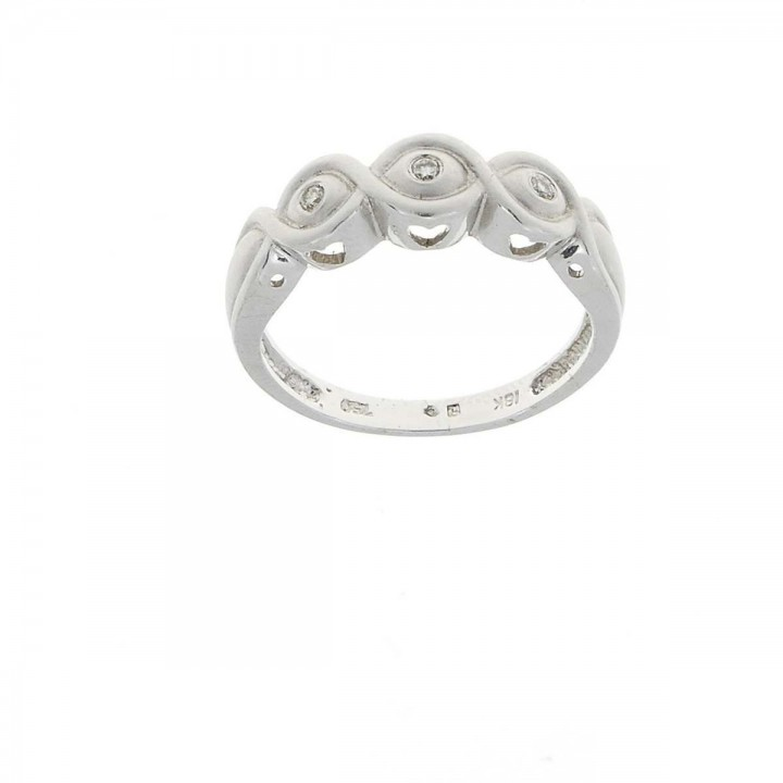 Engagement ring, white gold with diamonds