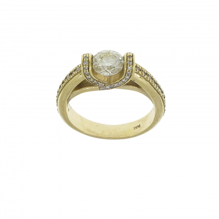 Кольцо для предложения руки и сердца с бриллиантами