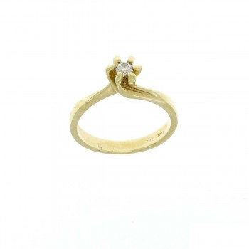 Engagement ring, yellow gold with diamond