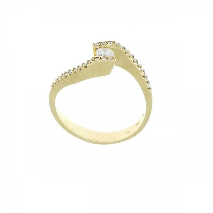 Engagement ring, yellow gold 585 with diamond