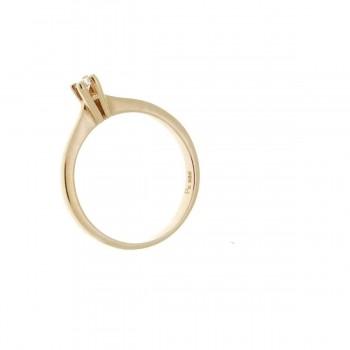 Кольцо для обручения, красное золото с бриллиантом