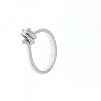 Кольцо для обручения, белое золото 14 карат, бриллианты