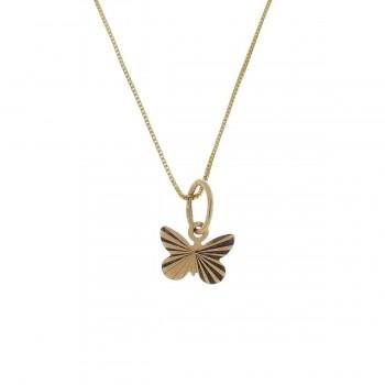 Кулон для ребенка - бабочка, красное золото 585 14 карат