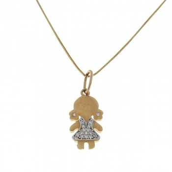 Pendant for a child, red gold 585 14 carats