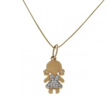 Кулон для ребенка, красное золото 585 14 карат