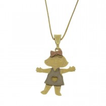 Pendant for a child, 14ct yellow and red gold