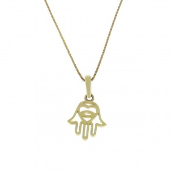 Pendant for a child - hamsa, yellow gold 585 14 carats