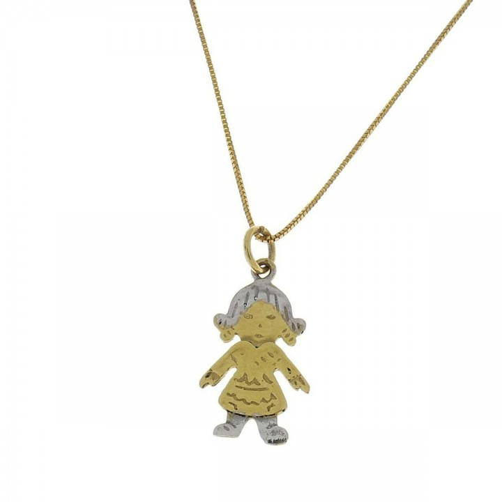 Pendant for a child, 14ct yellow and white gold
