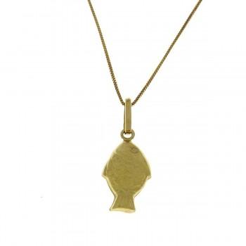 Кулон для ребенка, желтое золото 14 карат