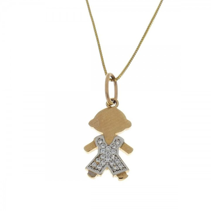 Pendant for a child - boy, 14K yellow gold