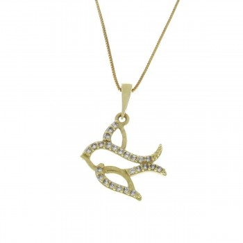 Pendant for a child, yellow gold 585 14 carats