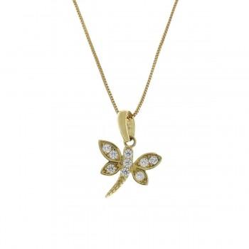 Кулон для ребенка - бабочка, желтое золото 585 14 карат