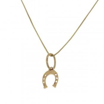 Кулон для ребенка - подкова, желтое золото 585 14 карат