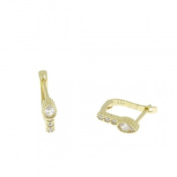 Earrings for a child, 14K yellow gold 585