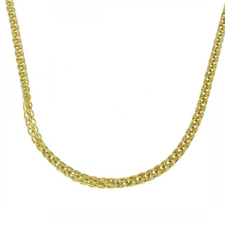 Chain for woman Bismarck, yellow gold, length 50 cm
