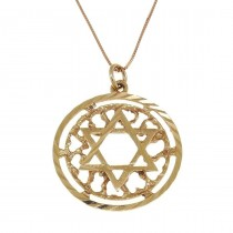 Gold pendant - star of David, red gold, weight 2.17 grams
