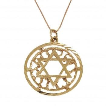 Золотая подвеска - звезда Давида, красное золото, вес 2,17 грамм