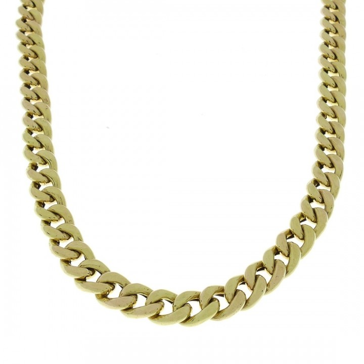 Gold chain, yellow gold, weight 38.19 grams