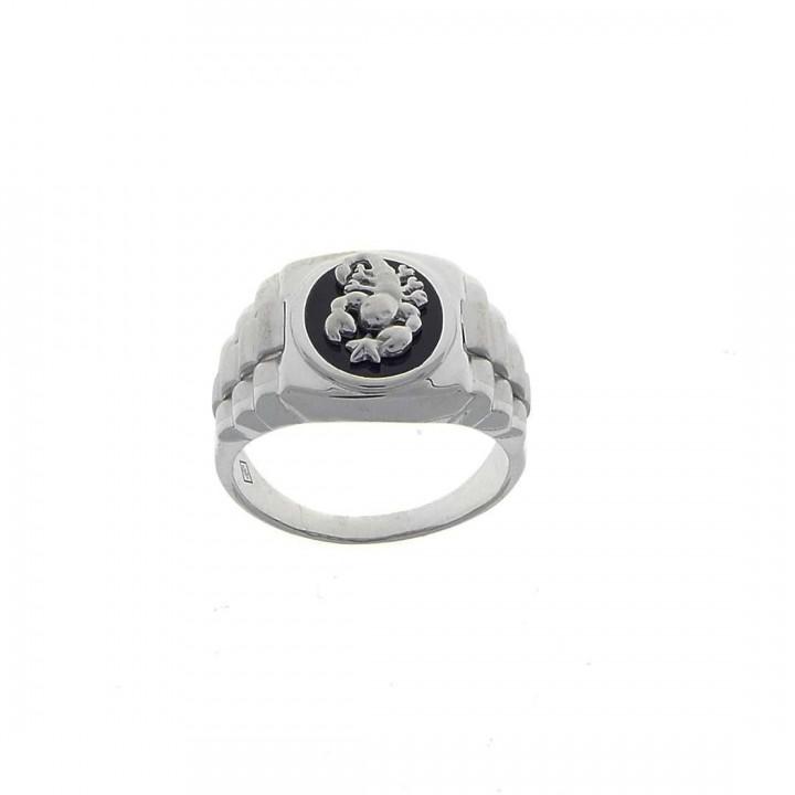 Золотое мужское кольцо, белое/желтое золото