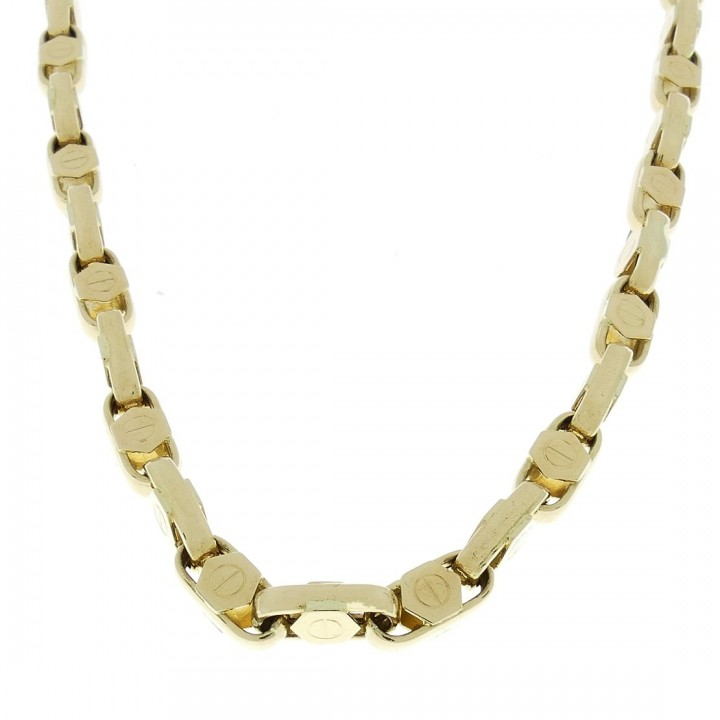 Gold chain, yellow gold, weight 35.66 grams, length 62 cm