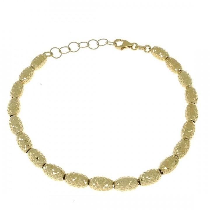 Золотой браслет, желтое золото, вес 7,02 грамма