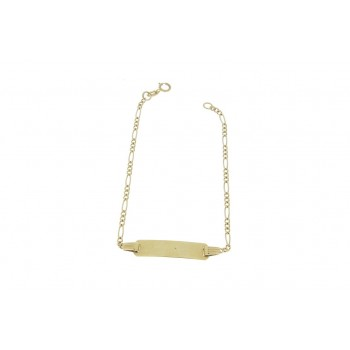 Gold bracelet for children, yellow gold 14 k, weight 1.92 grams