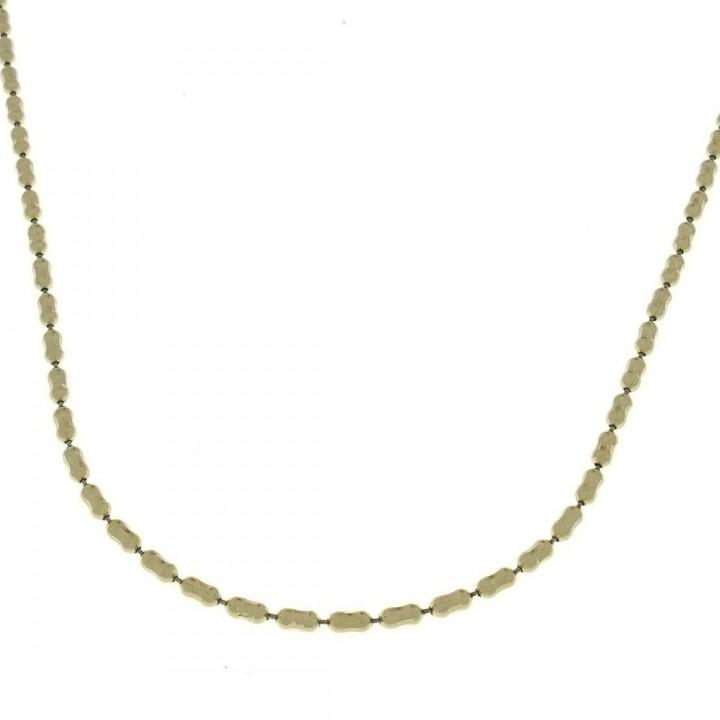 Цепочка для женщины, желтое золото, длина 44 см