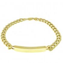 Золотой браслет, желтое золото, длина 22,5 см