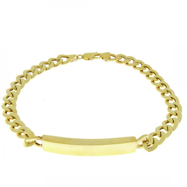 Gold bracelet, yellow gold, length 22.5 cm