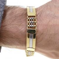Золотой браслет, желтое золото, длина 21 см