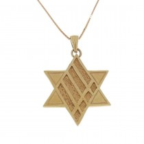 Gold pendant - star of David, red gold, weight 2,61 grams