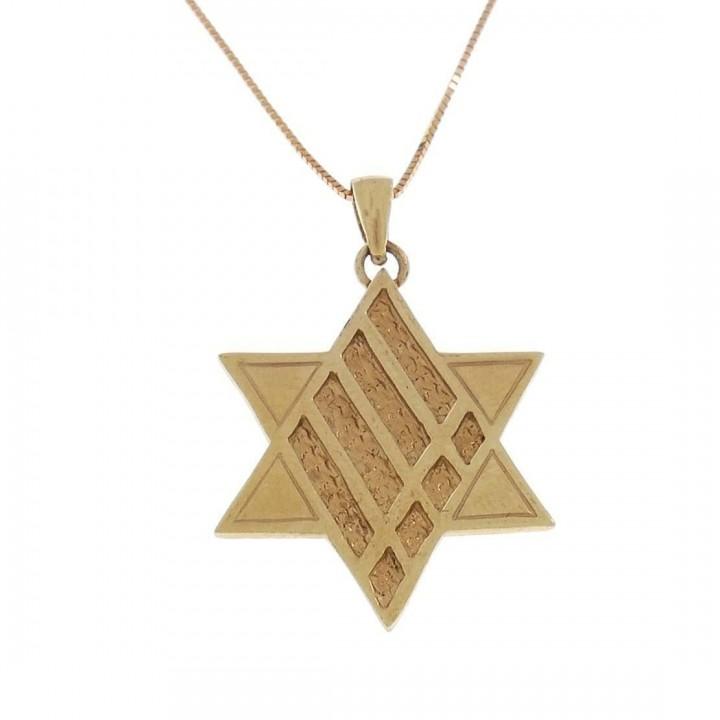 Золотая подвеска - звезда Давида, красное золото, вес 2,61 грамм