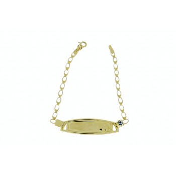 Gold bracelet for children, yellow gold 14 k, weight 2.27 grams