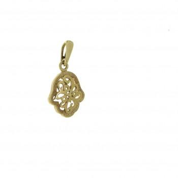 Gold pendant - Hamsa, yellow gold, weight 2.16 g