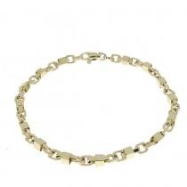 Золотой браслет, желтое золото 21,5 см