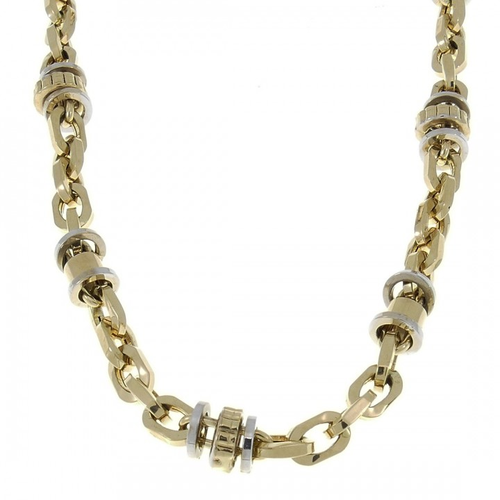 Gold chain, yellow and white gold, weight 20.96 grams