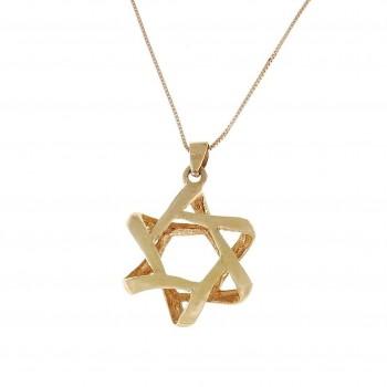 Золотая подвеска - звезда Давида, желтое золото, вес 1,97 грамм
