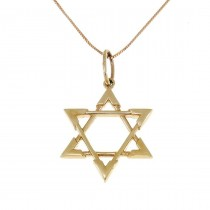 Gold pendant - star of David, yellow gold, weight 1,64 grams