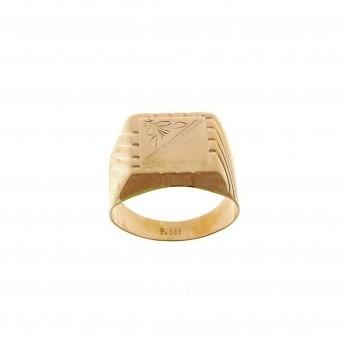 Золотое мужское кольцо, красное золото