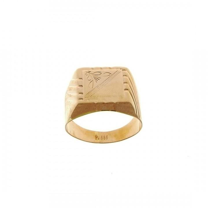 Золотое мужское кольцо, красное золото, вес 4,18 грамм
