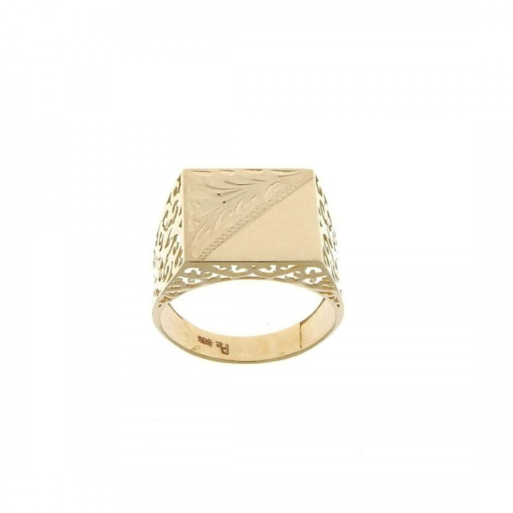Gold men`s ring, yellow gold