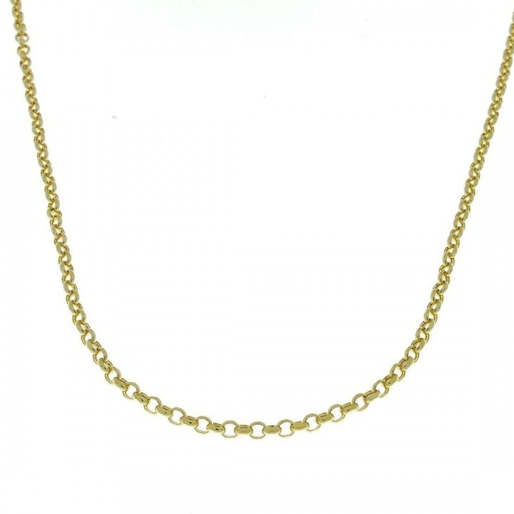 Chain for woman, yellow gold, length 49 cm
