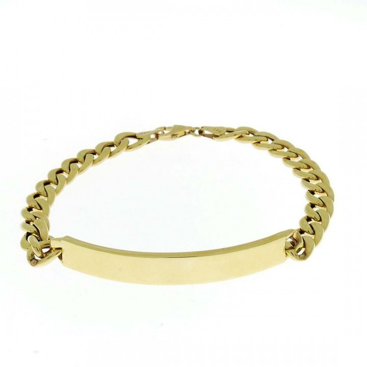 Gold bracelet, yellow gold, length 21 cm