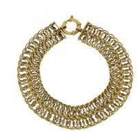 Золотой браслет, желтое золото, вес 10,81 грамма